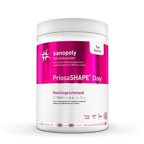 SANOPOLY Priosa® SHAPE DAY Vanille 630g I Veganes Eiweißpulver mit Quinoa, Chia-Protein & Guarana I Ohne versteckte Zusätze oder Konservierungsstoffe I Sättigendes & kalorienarmes Eiweiß