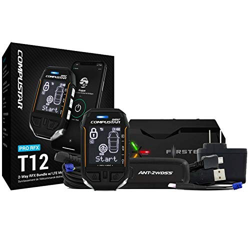 Compustar Pro RFX P2WT12 SS 3-Mile 2-Way LCD RF Remote + DR X1 Drone Mobile LTE