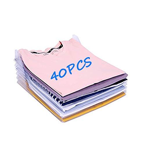 DIKER Organizador de Camisetas, Gerente de Vestuario, Gerente de Ropa o Archivo, Carpeta de Almacenamiento de tamaño de Archivo estándar (40pcs+ Bolsillo con cordón)