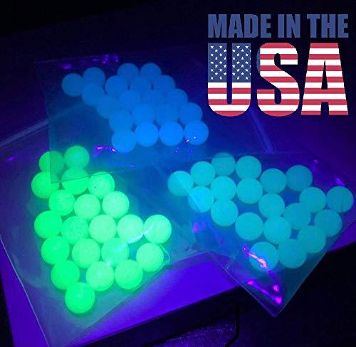 6mm Blue Quartz Balls UV Reactive Terp Pearls American Glass (5 Pack)