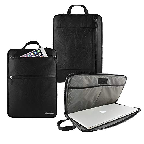 Pierre Cardin 13 inch Genuine Leather Carrying Tablet Bag Sleeve...