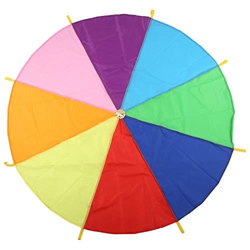01 Jeu de Parachute, Parachute coloré pour Enfants, Multifonction Durable pour Les Jeux multijoueurs pour Enfants(4 mètres)