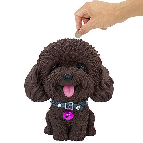 DreamsEden Sparschwein mit Hundemotiv, niedlicher Spardose, Heimdekoration (Teddy)