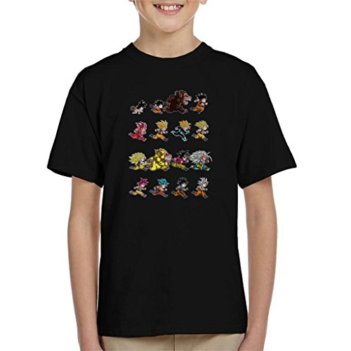Cloud City 7 Dragon Ball Z Evolutions of Goku Kid's T-Shirt