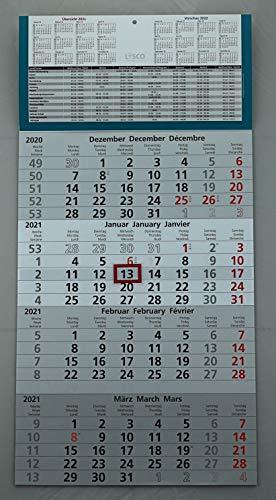 Viermonatskalender 4 Monats Wandkalender 2021 mit Datumschieber in Rot, inkl. Ferienübersichten und Jahresüberblick 2021 und 2022 werbefrei 4 Monatskalender keine Werbung