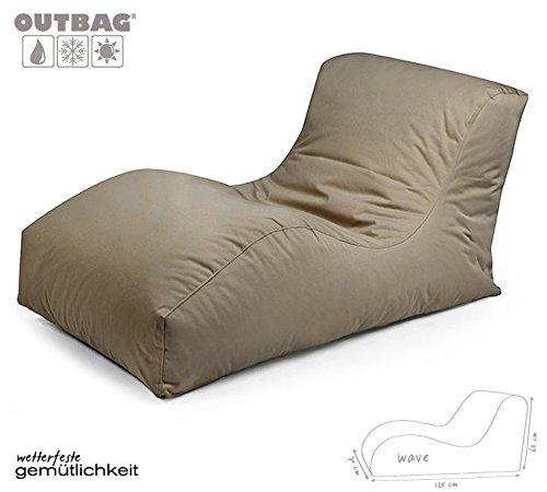 Sitzsack Outbag Wave Kollektion Plus in Schlammfarben
