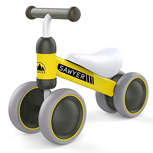 Sawyer - Correpasillos / Bicicleta Sin Pedales - Regalo para Niños 10 a 24 Meses / Juguetes Bebe 1 Año (Amarillo)