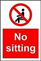 座っていない メタルポスタレトロなポスタ安全標識壁パネル ティンサイン注意看板壁掛けプレート警告サイン絵図ショップ食料品ショッピングモールパーキングバークラブカフェレストラントイレ公共の場ギフト