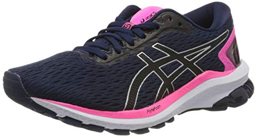 ASICS Womens GT-1000 9 Running Shoe, Peacoat/Black, 38 EU