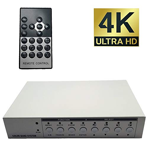 CCTV Camera Pros VM-HD4 HD CCTV Multiplexer, Analog AHD TVI HDCVI Video Quad Screen Processor, HDMI