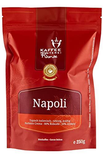 Kaffeerösterei Kirmse I Espresso Napoli I 250g I Espressomischung I Espresso gemahlen I Handverlesen I Fair gehandelt I Schonend geröstet I Wenig Säure I Espresso für Espressomaschine
