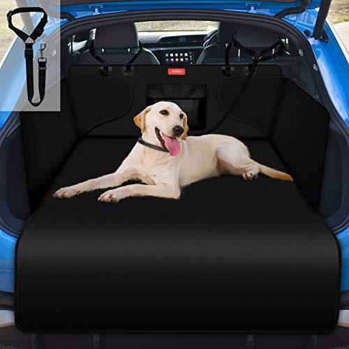 PetIsay Kofferraumschutz für Hund, Kofferraumdecke mit Seitenschutz - Wasserdicht - Kratzfest - rutschfest - Waschbar - Große Universal Passform, Schwarz