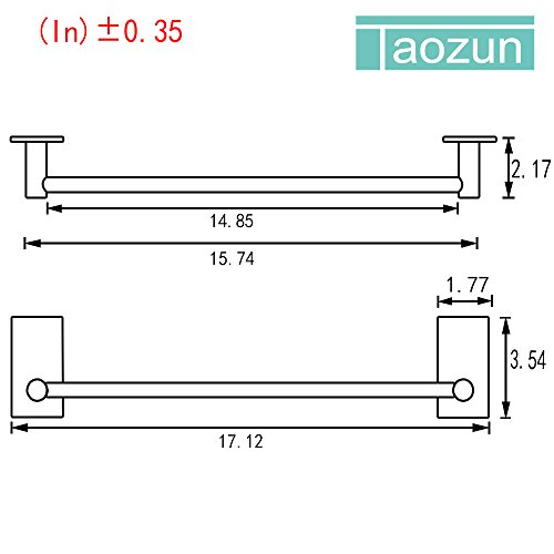 Taozun SUS 304 Stainless Bathroom Towel Bar