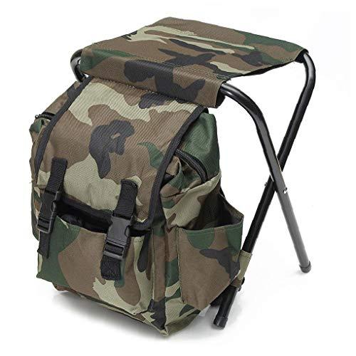 2 in 1 Chiar Tasche, Falten Fischen Rucksack Stuhl Hocker Camping Sitz Für Jagd Klettern Outdoor-aktivitäten
