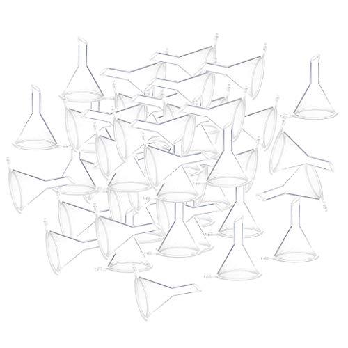 B Blesiya 100pcs Mini Entonnoirs En Plastique De Voyage Pour Petits Échantillons, Outils D'emballage Pour Parfum, Émulsion - Clair
