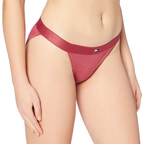 Tommy Hilfiger Bikini Capa de Base Inferior, Rojo Tierra, L para Mujer