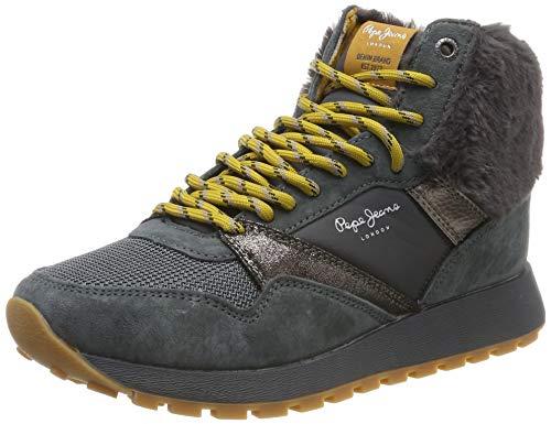 Pepe Jeans London Damen Dean WARM Hohe Sneaker, Grau (Gris 959), 36 EU