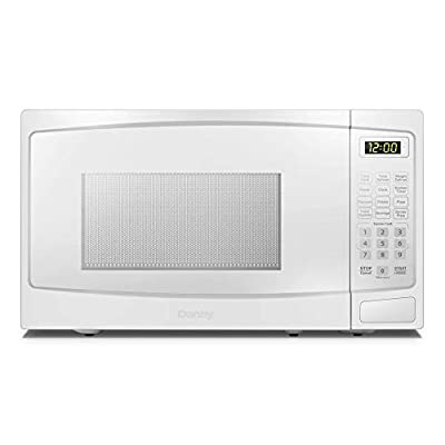 Danby DBMW1120BWW 1.1 Cu.Ft. Countertop Microwave In White - 1000 Watts, Family Size Microwave With Push Button Door