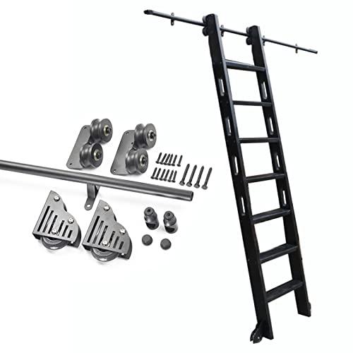 XFSHKJS Rollleiter-Hardware- Bibliothek Schiebeleiter-Hardware- Kit 3, 3 Fuß bis 20 Fuß, Mobile Rundrohr- Leiter Kompletter Satz Schienen-Schiebetor-Hardware-Kit (Size : 100cm Gleisbausatz)