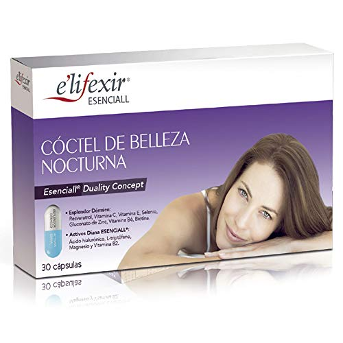 Elifexir Cóctel Belleza Nocturna, Nutricosmética Rejuvenecedora Antiedad 30Caps