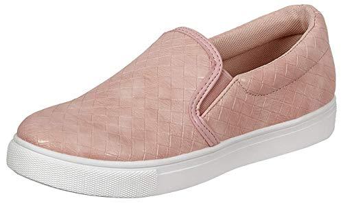Ladies Traveler-1 Slip-On Woven Sneaker (6 B(M) US, Blush)