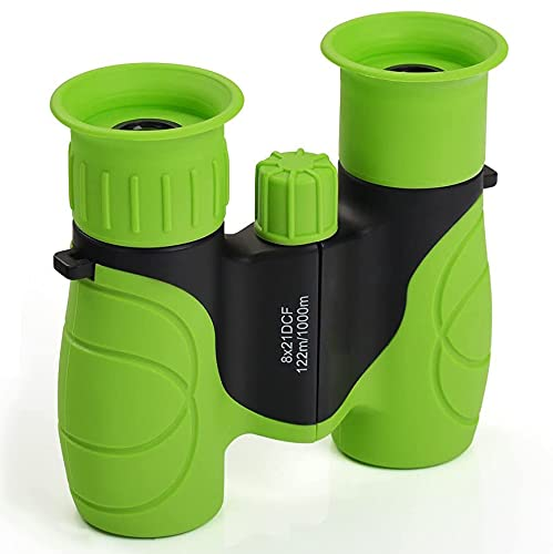 Los binoculares Impermeables para niños compactos 8x21-Los Juguetes y Regalos al Aire Libre de los niños Son Ideales para la matrícula de Navidad, Pascua o Escuela