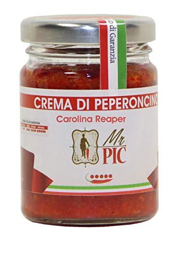 Crema di peperoncino Carolina Reaper (90 g) - IL PIÙ PICCANTE DEL MONDO - Mr PIC®: il Peperoncino Toscano di alta qualità - Carmazzi: la più ampia linea di prodotti piccanti in Italia