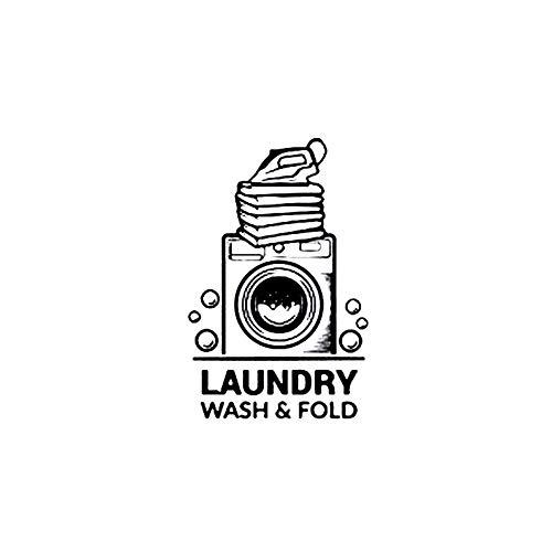 Etiqueta de la Pared de la Manera de lavandería Letras del Vinilo de Fondo de Pantalla extraíble para el hogar decoración Dormitorio Baño Negro