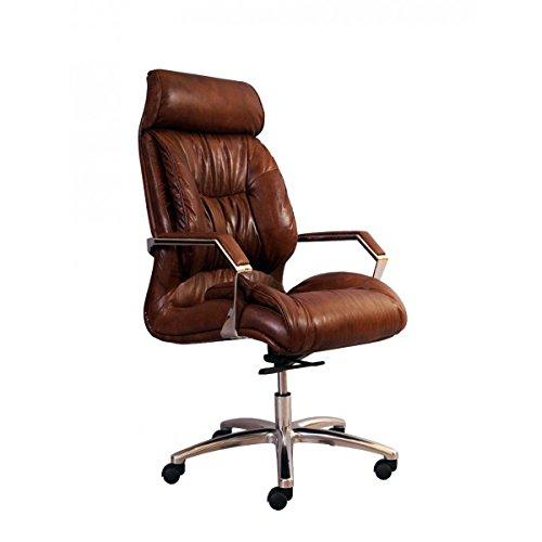 Vintage-Line Bürosessel Old New York Leder Montaigne Brown Büro Stuhl Sessel