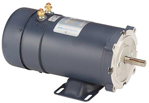 Leeson 108322.00 Low Voltage DC Motor, 56C Frame, C-Face Rigid Mounting, 1HP, 1800 RPM, 12V Voltage