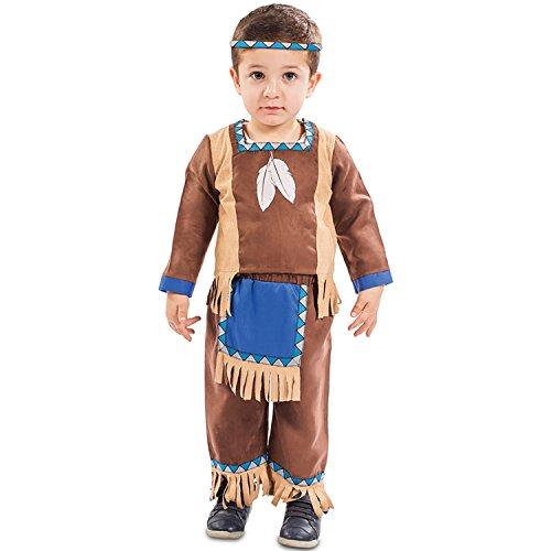 EUROCARNAVALES Kinder Kostüm Indianer Kenai Alter 1-2 Jahre Einheitsgröße Baby Kleinkind Cowboy Rothaut Western Fasching Karneval