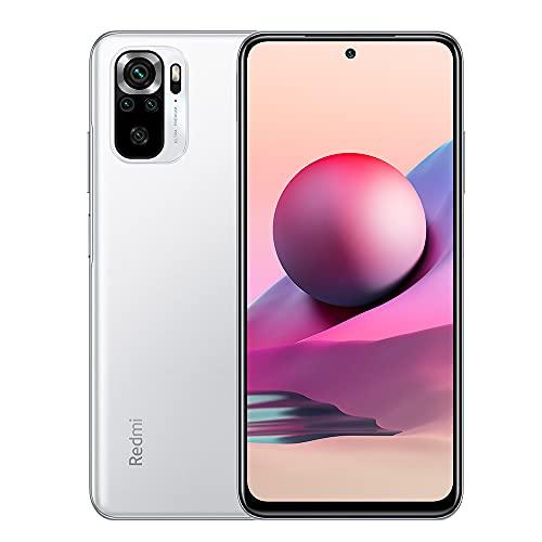 Xiaomi Redmi Note 10S Smartphone 6GB 64GB Teléfono,con NFC,MediaTek Helio G95 Procesador,6.43' AMOLED DotDisplay,(64MP+8MP+2MP+2MP) Quad Camera,Dual SIM Card,AI Face Unlock Versión Global(Blanco)