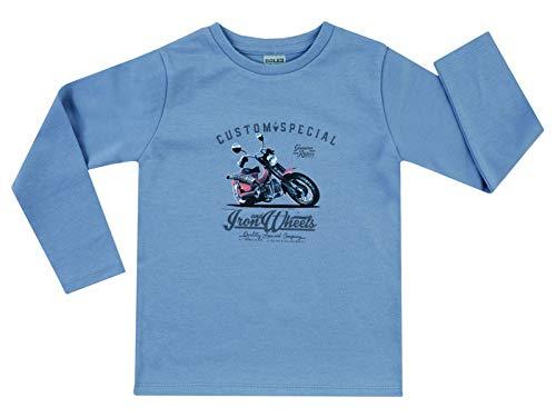 Jacky Langarmshirt für Jungen, Größe: 62, Alter: 2-3 Monate, Basic Line, Blau, 6131918