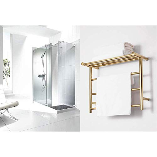 Elektrisch Verwarmde Handdoekenrek Handdoekenrek Wand- Goud, Energiebesparende Isolatiewand Gemonteerde Radiator Gold