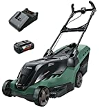 Bosch AdvancedRotak <span class='highlight'>36</span>-650 <span class='highlight'>Cordless</span> Lawnmower with <span class='highlight'>36</span> V 4.0 Ah <span class='highlight'>Lithium</span>-<span class='highlight'>Ion</span> Battery (1 Battery, 50 Litre Grassbox, <span class='highlight'>36</span> V, Green, Cutting Width/Height: 42 <span class='highlight'>cm</span>/25-80 mm)