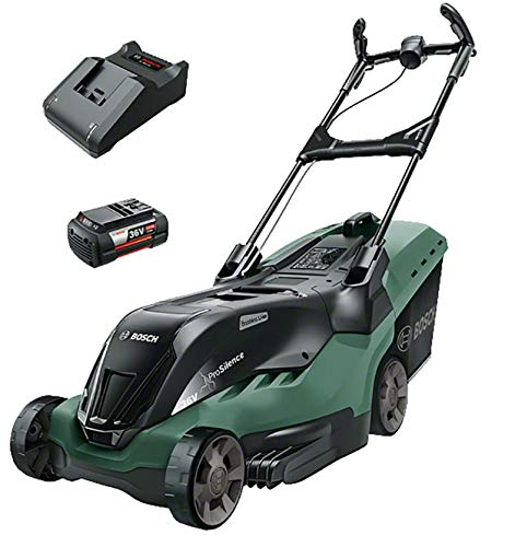 Bosch Rotak 430 LI Cordless Lawnmower with Two 36 V Lithium-Ion Batteries (2 Batteries, 50 Litre...
