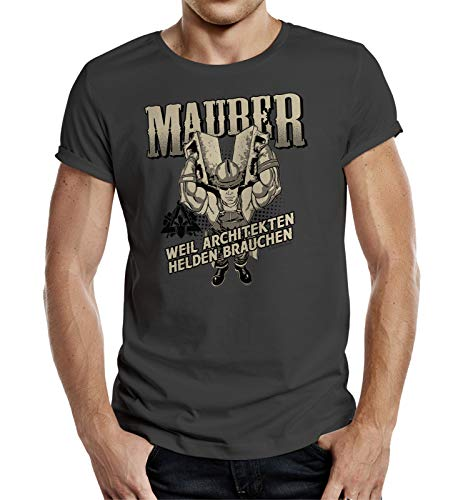 T-Shirt für Maurer - Weil Architekten auch Helden brauchen L Nr.6391
