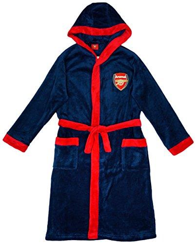 Jungen Offiziell Arsenal FC Gunners Mit kapuze Bademantel Bademantel größen von 3 bis 13 Jahre - Synthetisch, Blau, 100% polyester, Jungen, 7-8 Years
