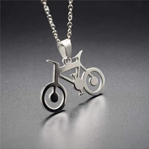 VAWAA Neue Edelstahl Mountainbike Anhänger Halsketten Racing Fahrradform Halsketten Frauen Geburtstagsgeschenk Schmuck