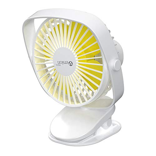 VersionTECH. Clip on Stroller Fan, Mini Personal Desk Fan with USB Rechargeable Battery Operated and 360? Rotation for Home Room Baby Bed Office Car Outdoor