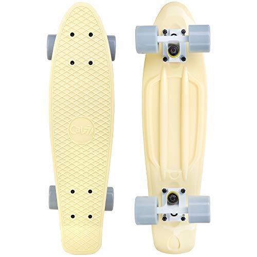 Cal 7 22.5' Complete Mini Cruiser Plastic Skateboard (Snowdrop)
