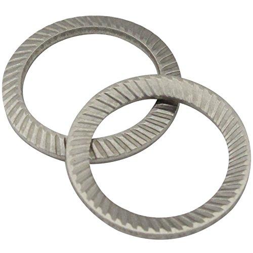 SCHNORR-Sicherungsscheiben Form S - M8 - (5 Stück) - Schnorrscheiben S8 / Sicherungsscheiben - rostfreier Edelstahl A2 (V2A) - SC9024 | SCHNORR®