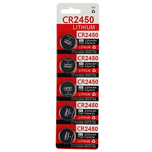 CR2450 2450 Battery Key Fob Remote (5-Pack)