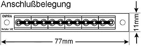 Edelstahlmarkenshop Stromverteiler Verteiler V 1x12 Mit Incl Montagematerial Bis 8a Belastbar V 1x12 Spielzeug