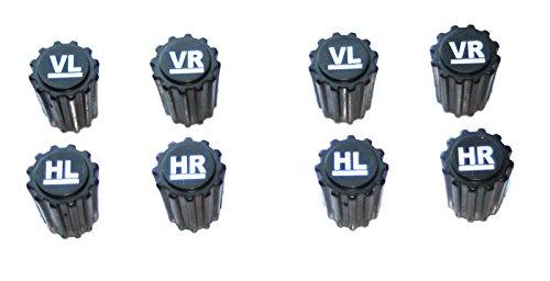 8x Reifenmarkierung Ventilkappen REIFENMARKIER SET Radmarkierer Kennzeichnung Winterreifen Sommerreifen Winterräder Reifenwechsel
