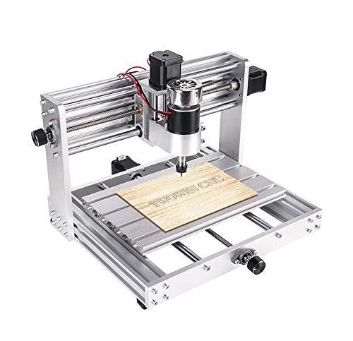 MEICHEN CNC 3018 MAX Grabador, 5500mw / 10w / 15w Gran Potencia, Control de la máquina 200W con husillo de Bricolaje CNC de 3 Ejes Fresadora PCB con desconectado,with 10w Laser