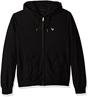 True Religion Men's Zip Hoodie with Metal Horseshoe