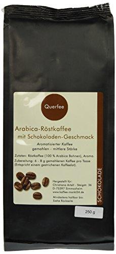 Querfee Kaffee mit Geschmack - Schokolade - Arabica Röstkaffee - gemahlen - 250 g, 1er Pack (1 x 250 g)