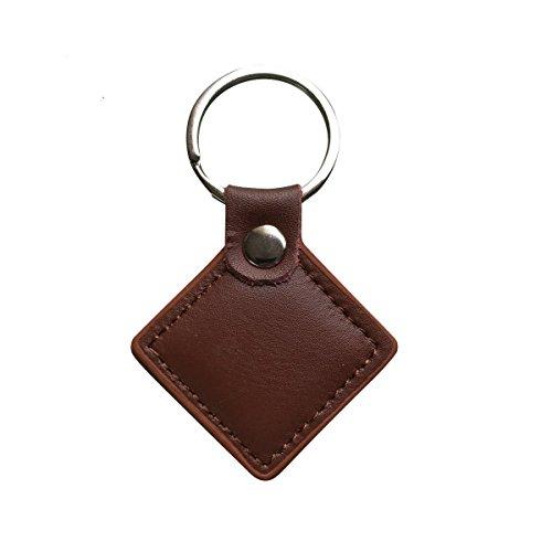 YARONGTECH 13.56MHZ ISO14443A MIFARE Classic 1K Echt lederen sleutelhanger voor deurtoegangscontrole (pak van 10)