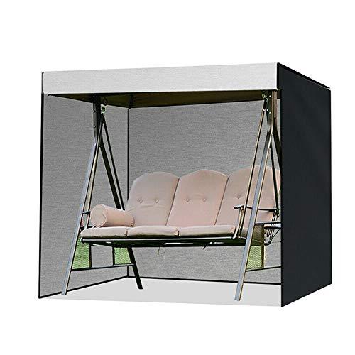 YOUCHOU Swing Cover Wasserdicht Anti-Ultraviolett 3-Sitzer Terrasse Swing Chair Sitzbezug Sonnenschutz Abdeckung 210d Oxford Garten Hängematte Schutzhülle